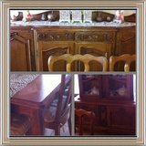 Antique French Provincial dining set in Lawton, Oklahoma