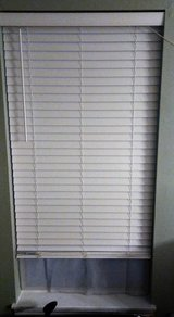 """3 - 35x72 2"""" white faux wood blinds in Kingwood, Texas"""