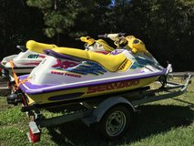 2 Seadoo JetSki's on Double Trailer Run Excellent Current Registration in Coldspring, Texas