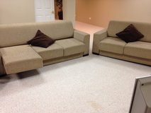 Sofa and loveseat modern style for FREE - Moving Sale in Glendale Heights, Illinois