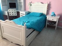 Twin Bed with Trundle and Nighstand in Naperville, Illinois