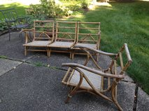 Vintage Calif-Asia Bamboo Rattan outdoor seating in Naperville, Illinois