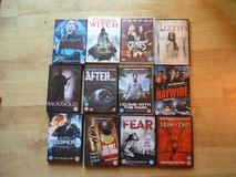12 dvd's, horror and thillers in Lakenheath, UK