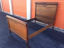 Antique Golden Qtr Oak Bed Rolled and Carving's in Cherry Point, North Carolina