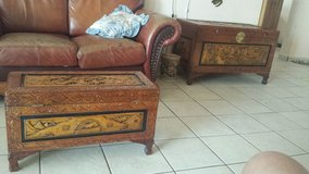 Vintage Hand Carved Wooden Chests from Indonesia in Nellis AFB, Nevada