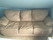 Couch - Faux Leather in Joliet, Illinois