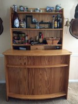 Hand built solid oak bar in Moody AFB, Georgia