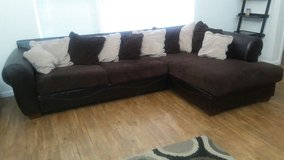 Sectional couch and pillows in Fort Bliss, Texas