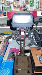 Drill presses tabletop style in Yucca Valley, California