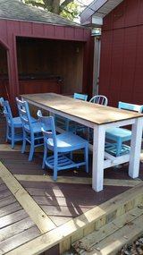 Wooden table and chairs in Lockport, Illinois