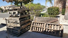 Stack o'pallets in Lake Elsinore, California
