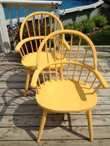 2 sunflower yellow chairs in Naperville, Illinois