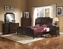 HIGH QUALITY QUEEN BED SET WITH 9 DRAWER DRESSER ONLY in Riverside, California