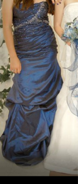Navy blue prom dress size 12 in Leesville, Louisiana