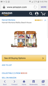 Hannah Montana barbie malibu beach house collectible in New Lenox, Illinois