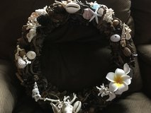 Handmade wreath with driftwood and shells! in Okinawa, Japan