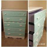 Teal 5 drawer dresser in Hinesville, Georgia