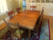 Antique Dining Room Table and 6 Antique Chairs in Brookfield, Wisconsin