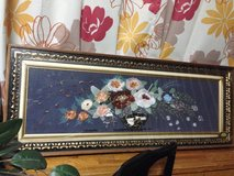 Glass frame with flowers in Okinawa, Japan
