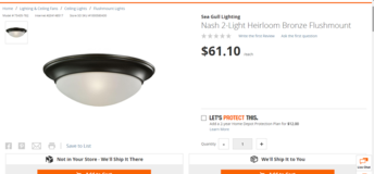 Sea Gull Lighting Nash 2-Light Heirloom Bronze Flushmount. Ceiling light BRAND NEW 2 of them in Bolingbrook, Illinois