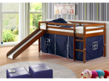 Donco Twin Low Loft Tent Bed with Slide in Lake Charles, Louisiana