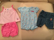 Carter's short set, romper & capris...size 6 monthe in Chicago, Illinois