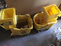 3 Rubbermaid Mop Buckets in Lockport, Illinois