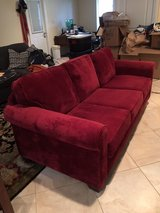 Red Microfiber Couch in Virginia Beach, Virginia