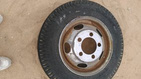 Tire and wheel in 29 Palms, California