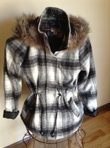 MOSSIMO PLAID COAT WITH FAUX FUR TRIM. *NEW WITH TAGS* in Rolla, Missouri