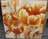 Orange Flower Canvas Painting in Travis AFB, California