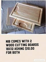 Set of 2 Wood Cutting Boards in Lockport, Illinois