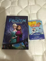 Disney Frozen book and playing cards in Houston, Texas