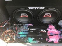 """MTX Terminator 12"""" Subs and Amp in Fort Riley, Kansas"""