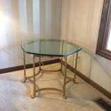 Brass and glass end table in Naperville, Illinois