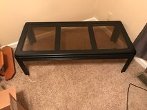 Wood Coffee Table with Glass Panes in Fort Campbell, Kentucky