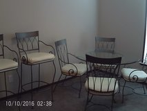 Glass Table 4 Chairs 2 Barstools in Conroe, Texas
