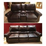 Ashley Furniture Leather Power Reclining Sofa and Love Seat in Lawton, Oklahoma