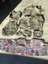 Camouflage seat covers and dash mat in Camp Lejeune, North Carolina