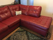 Red Leather Sectional Sofa in Manhattan, Kansas