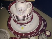 Snowman dish set in Manhattan, Kansas