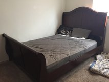 Queen sealy mattress and frame in Fort Sam Houston, Texas