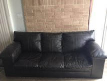 Faux leather couch in Fort Sam Houston, Texas