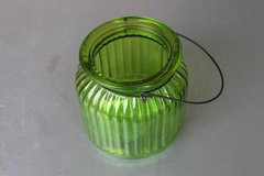 Green Glass jar with Metal Handle in Fairfield, California