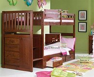 Stair Step Bunk Bed with 3-Drawer Bunk Pedestal in MacDill AFB, FL