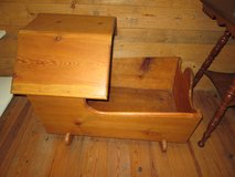 """Wood Baby Cradle With Top.  Rocks 31"""" long and 22"""" wide in Fort Leonard Wood, Missouri"""