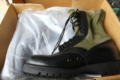 Green & Black Military Boots in Fairfield, California
