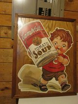1993 Campbell Soup Store Display Framed.  Larger Size. in Fort Leonard Wood, Missouri