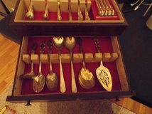 43 pcs. of WM Rogers Silverplate in wooden box in Pasadena, Texas