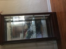 Lighted glass cabinet in Lawton, Oklahoma